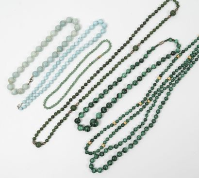 Lot de 3 colliers fantaisie composés de...