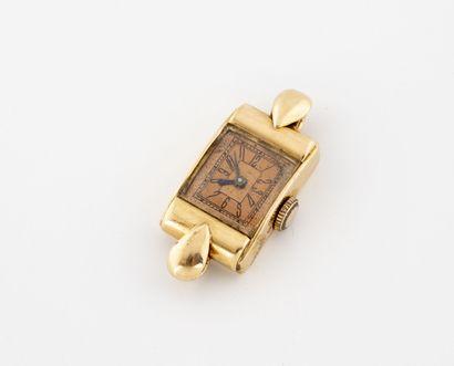 Boîtier de montre bracelet de forme rectangulaire...