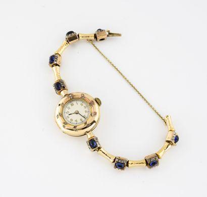Montre bracelet de dame en or jaune (585)....