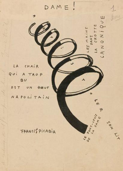 Francis PICABIA « Dame ! ». Illustration de couverture de la revue « Dadaphone n°...