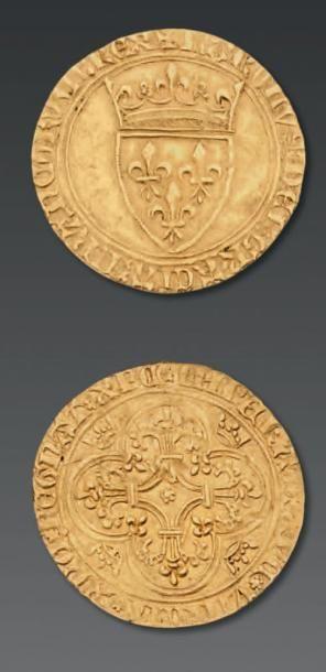 FRANCE Charles VI (1380-1422) Ecu d'or à la couronne. Mâcon. [D. 369]. TTB
