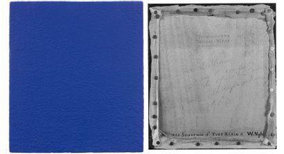 """Yves KLEIN (1928-1962) """"Le monochrome bleu"""", 1960. Pigments sur toile appliquée sur..."""