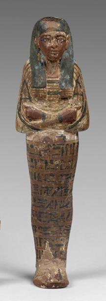 Oushebti momiforme. Le corps couvert d'un...
