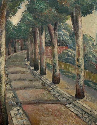 Sava CHOUMANOVICH (1896 - 1942) La route. Huile sur toile. Signée en bas à gauche....