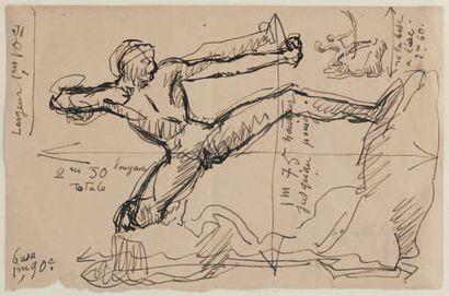 Emile Antoine BOURDELLE (1861 - 1929) Héraklès Archer,huitièmeétude - modèle intermédiaire...