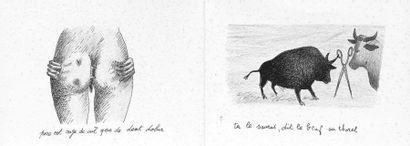 Roland TOPOR (attribué à) (1938-1997) Dix-huit dessins formant livret à sujets scatologiques...