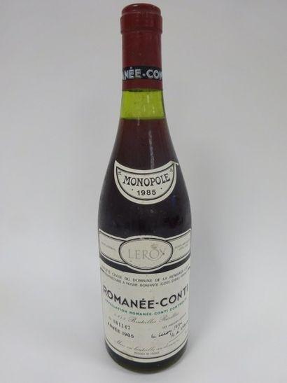 1 bouteille ROMANEE CONTI 1985 Grand Cru....