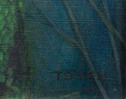 Marie CERMINOVÁ dite TOYEN (1902 - 1980) Au carrefour du silence, 1960. Huile sur...