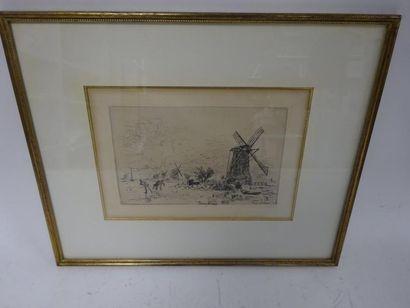 Johan-Barthold JONGKIND (1819-1891)  Batavia.  Eau-forte illustrant le sonnet de...