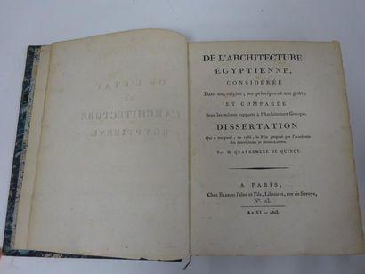 QUATREMERE de QUINCY (Antoine Chrysostome)