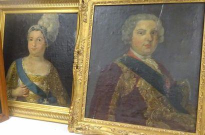 Ecole française du XVIIIème siècle  Deux...