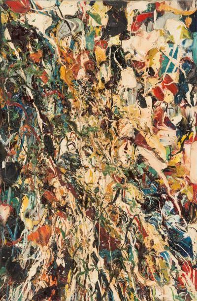 Jean-Paul Riopelle (1923-2002) Composition, 1950. Huile sur toile. Signée et datée...