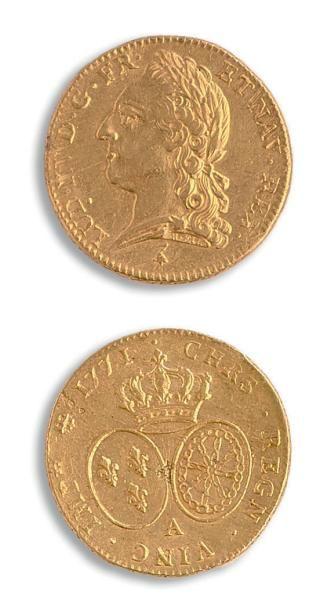 Louis XV (1715-1774) Double Louis d'or à...