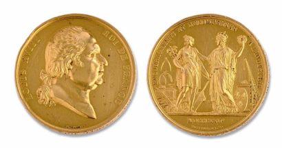Louis XVIII (1815-1824) Médaille en or. 137...