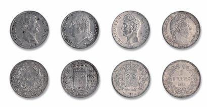 1 franc: 7 exemplaires. Premier Empire (An...