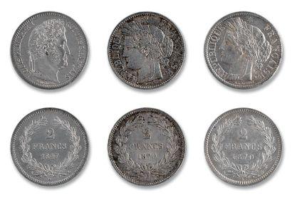 2 francs: 5 exemplaires. Louis-Philippe (2...