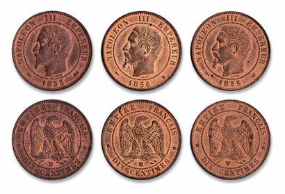 10 centimes: 15 exemplaires. Tête nue (10...