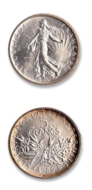 Lot d'essais de la Monnaie de Paris: 1929:...