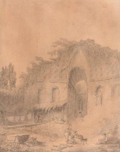 Attribué à Hubert ROBERT (Paris 1733-1808)