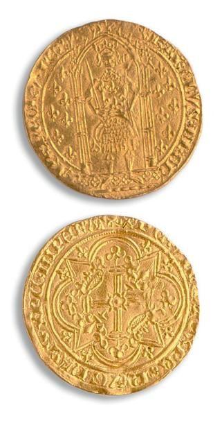 Charles V (1364-1380) Franc à pied. 3,84...