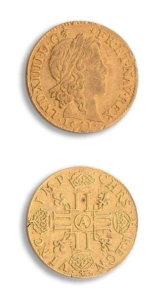 Louis XIV (1643-1715) Louis d'or à la mèche...
