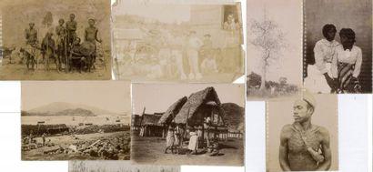 Petit lot de photos de voyages, dont Afrique,...