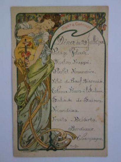 Alfons MUCHA (1860-1939) pour MOËT & CHANDON