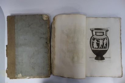 3 fascicules de gravures de vases antiques...