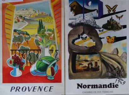 Lot de 14 affiches d'après Salvador DALI...