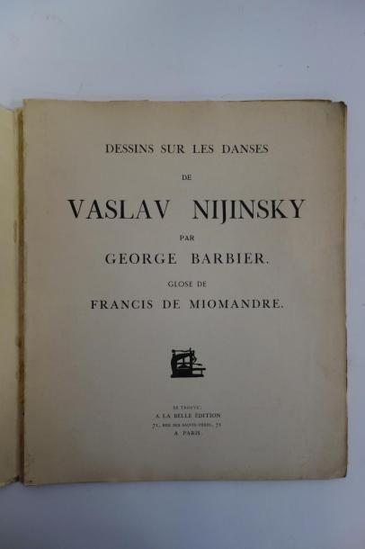 NIJINSKY (Vaslav) et BARBIER (Georges)