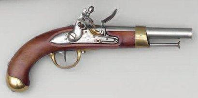 Pistolet d'arçon modèle An XIII. Canon rond...