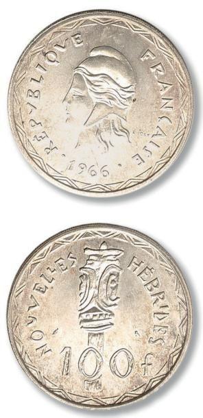 Lot de 67 monnaies coloniales: Indochine,...