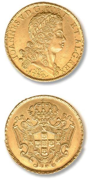 BRESIL Jean V (1706-1750) 12800 Reis or 1732....