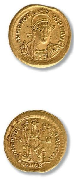 Honorius (393-423) Solidus. Constantinople....