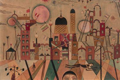 Alejandro XUL SOLAR (1887-1963) Sans titre, 1929. Aquarelle sur papier. Signée et...