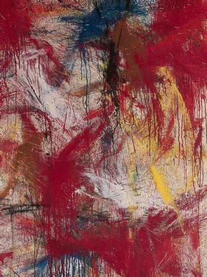 NORMAN BLUHM (1921-1999) Firecracker, 1958. Huile sur toile. Signée et datée en bas...