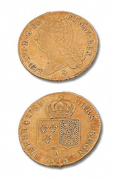 LOUIS XVI (1774-1793) Double louis d'or au...