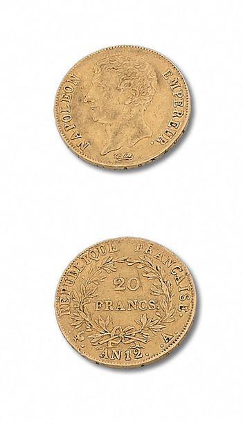 PREMIER EMPIRE (1804-1814) 40 francs or....
