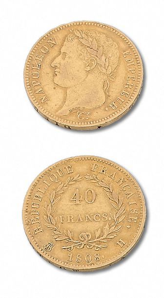 PREMIER EMPIRE (1804-1814) 40 francs or:...