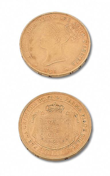 ROYAUME D'ITALIE: 40 lire or. 1808. Milan....