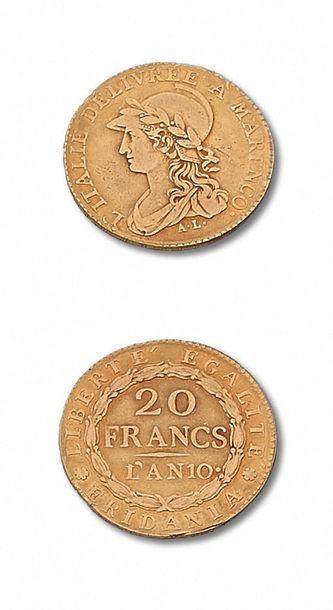 GAULE SUBALPINE (1800-1802) 20 francs. An...
