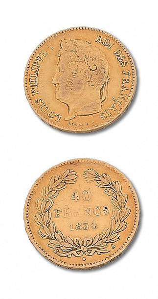 LOUIS PHILIPPE (1830-1848) 40 francs or....