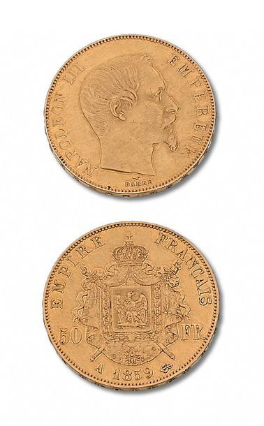 SECOND EMPIRE (1852-1870) 50 francs tête...