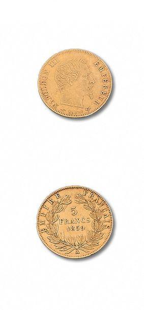 10 francs: 3 exemplaires. 1854A (petit module),...