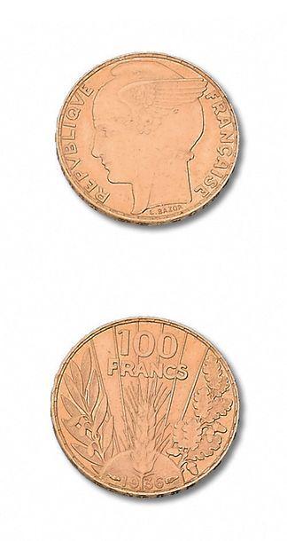 TROISIÈME RÉPUBLIQUE (1871-1940) 100 francs...
