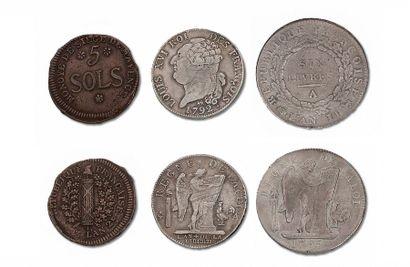 Lot de 35 monnaies de LOUIS XVI (1774-1793)...