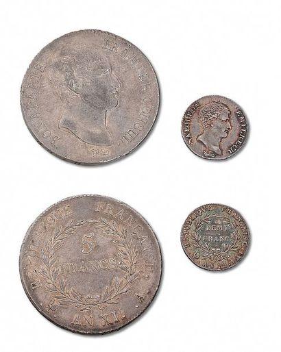 CONSULAT (1799-1804) 5 francs. An XIA. Franc....