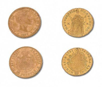 ESPAGNE: Charles III: demi escudo 1788S....