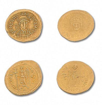 ZÉNON (474-491) Solidus. 4,45 g. Constantinople....
