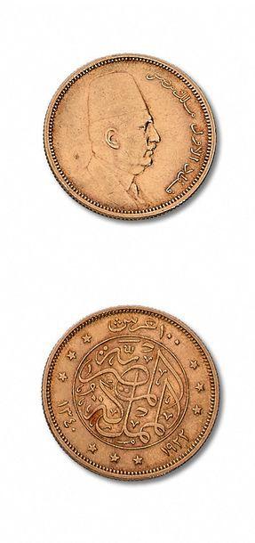 ÉGYPTE: 100 piastres. 1922. Livre. 1955....